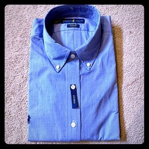 🆕 NWT Ralph Lauren blue oxford shirt.